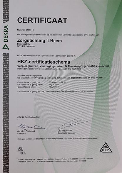 Heem Certificaat2016-2