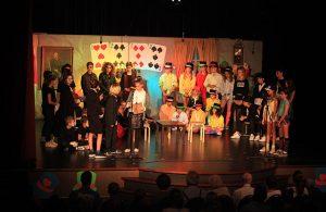 Een scène uit de musical van de Achthoevenschool